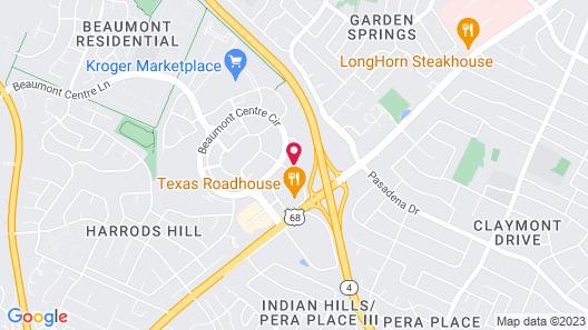 Courtyard Lexington Keeneland/Airport Map