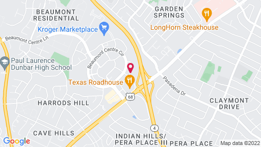 Residence Inn Lexington Keeneland/Airport Map