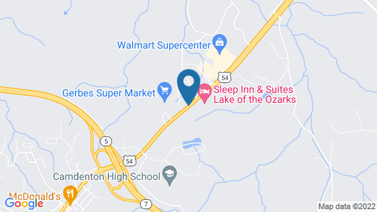 Sleep Inn & Suites Lake of the Ozarks Map