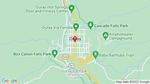 Ouray Chalet Inn Map