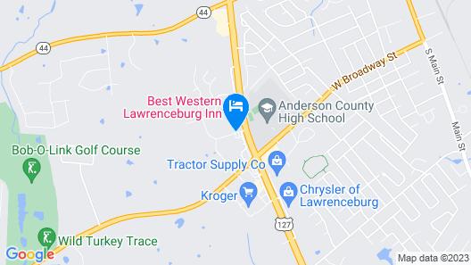 Best Western Lawrenceburg Inn Map