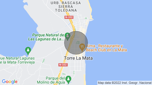Modern Ground Floor Apartment With 80m² Terrace + Parking at La Mata Beach Map