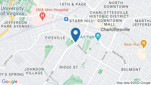 Fairfield Inn & Suites by Marriott Charlottesville Downtown/University Area Map