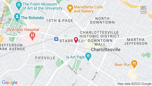 Residence Inn by Marriott Charlottesville Downtown Map