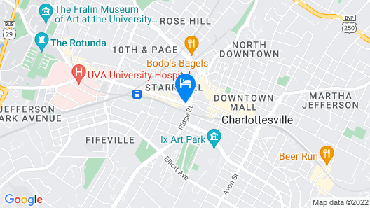 Residence Inn by Marriott Charlottesville Downtown Map