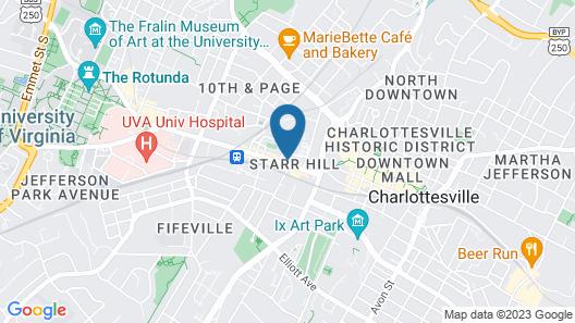 Quirk Hotel Charlottesville, a Destination by Hyatt Hotel Map