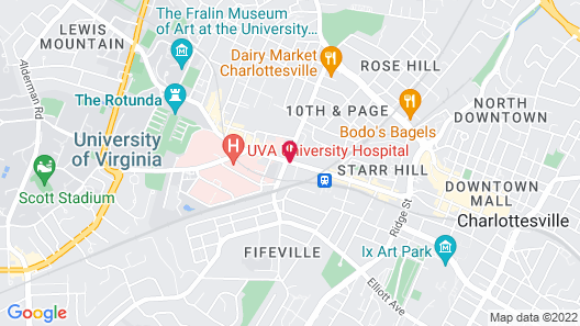Hampton Inn & Suites Charlottesville-At the University Map
