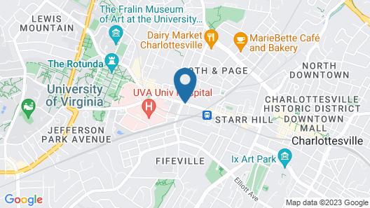 Hampton Inn & Suites Charlottesville-At the University Map