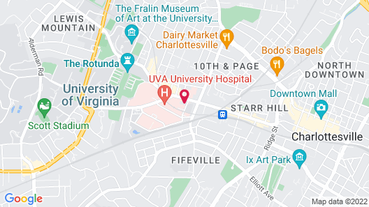 The Draftsman, Charlottesville, University, Autograph Collection Hotel Map