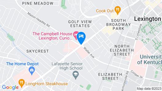 The Campbell House Lexington, Curio Collection by Hilton Map