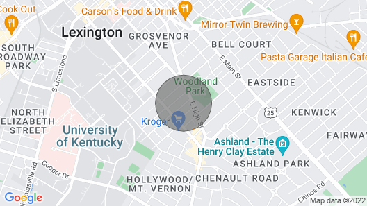 3br/2ba House Near UK, Chevy Chase, and Dowtown Lexington Map