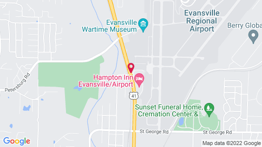Hampton Inn Evansville/Airport Map
