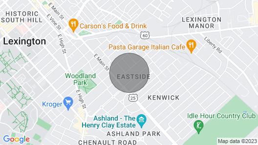 Jw's Loft Near Downtown/rupp Arena, UK, Horse Park Map