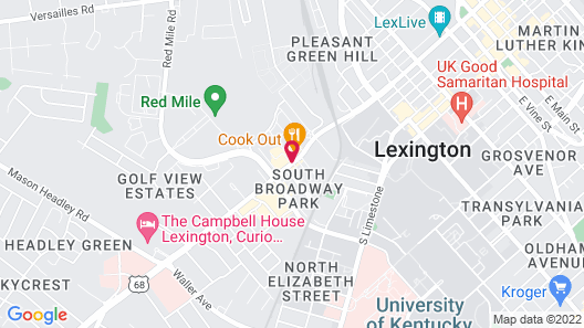 SpringHill Suites by Marriott Lexington Near the University of Kentucky Map