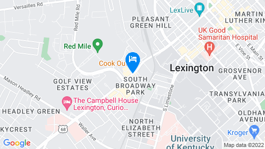 SpringHill Suites Lexington Near the University of Kentucky Map