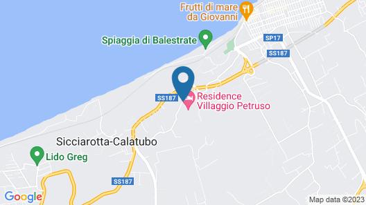 Residence Villaggio Petruso Map