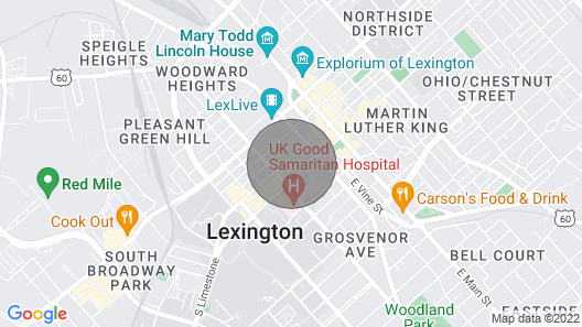 The Martin House - In the Heart of Historic Downtown Lexington Map