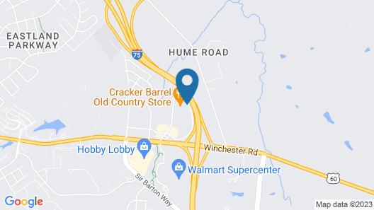 Quality Inn Lexington East/Hamburg Area Map
