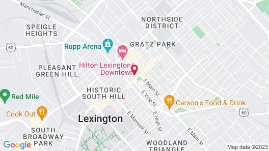 Lexington Marriott City Center Map