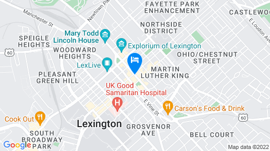 21c Museum Hotel Lexington - MGallery Map