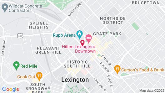 Hyatt Regency Lexington Map
