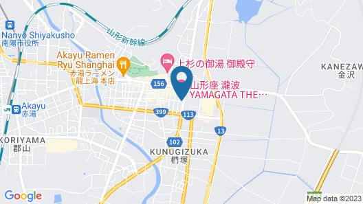 YAMAGATA THE TAKINAMI Map