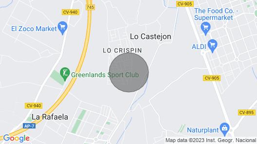 Villa Lo Crispin Algorfa / Quesada 3beds, 2baths, Garden & Pool Map