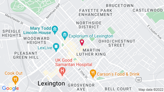 The Sire Hotel Lexington, Tapestry Map