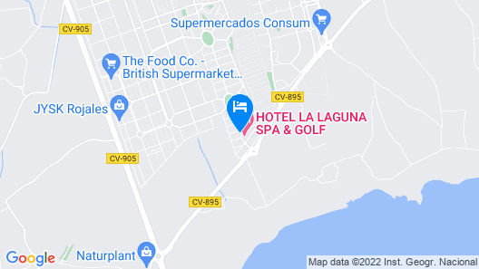 Hotel La Laguna Spa And Golf Map