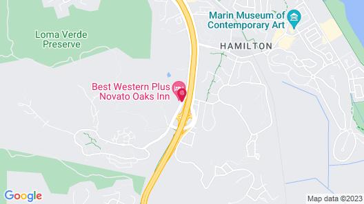 Best Western Plus Novato Oaks Inn Map