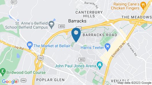 University of Virginia Inn at Darden Map