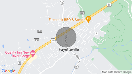 Located in the Middle of the Town of Fayetteville and the NRG Recreation Area Map