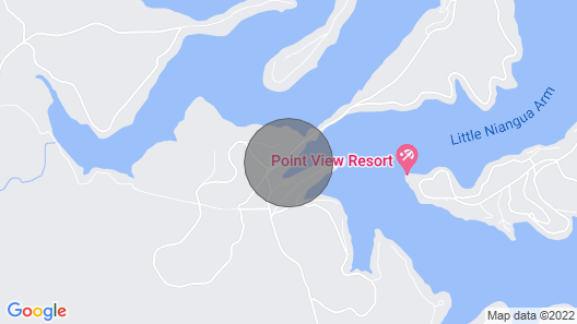 BIG Island Time Lakefront Family Vacation Home-4bd-4ba-sleeps 15-cove-dock-slip Map
