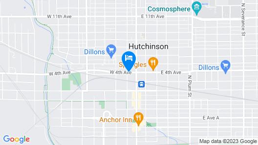 OYO Hotel Hutchinson KS West 4th Ave Map