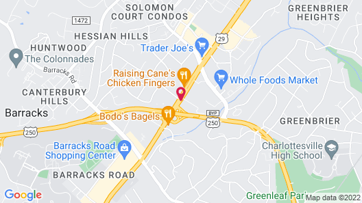 Days Inn by Wyndham Charlottesville/University Area Map