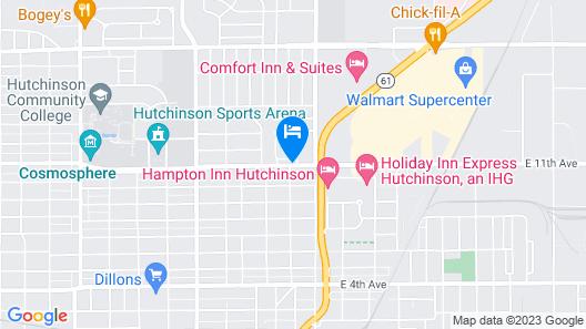 Red Coach Inn & Suites Hutchinson Map