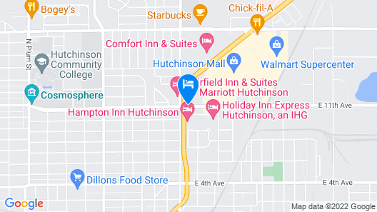 Hampton Inn Hutchinson Map