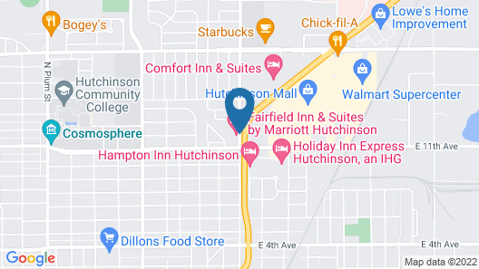 Fairfield Inn & Suites Hutchinson Map