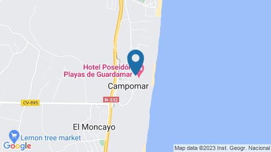 Hotel Playas de Guardamar Map