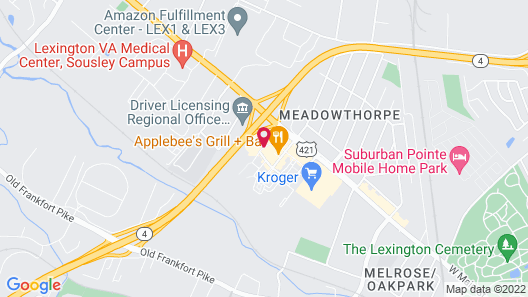 Holiday Inn Express & Suites Lexington Dtwn Area-Keenland Map