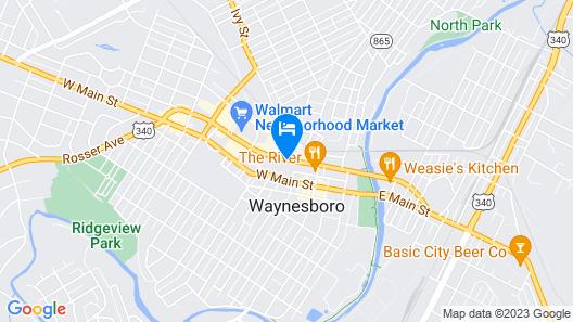 Quality Inn Waynesboro Map