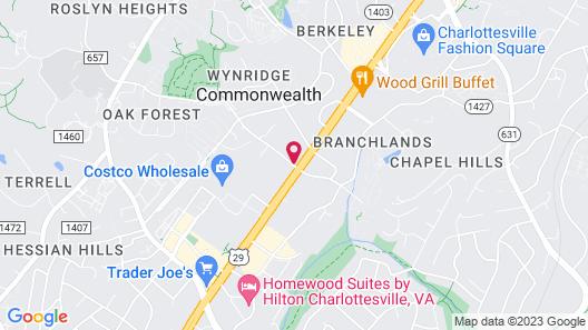 Super 8 by Wyndham Charlottesville Map