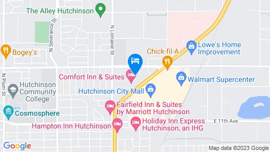 Super 8 by Wyndham Hutchinson Map