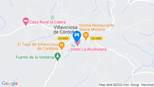 Hotel La Alcoholera Map