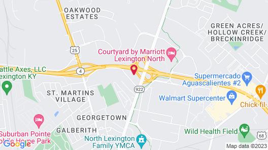 Candlewood Suites Lexington, an IHG Hotel Map