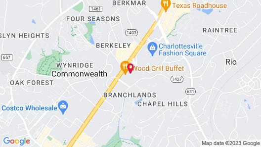 Courtyard by Marriott Charlottesville Map