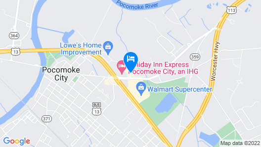Holiday Inn Express Pocomoke Map