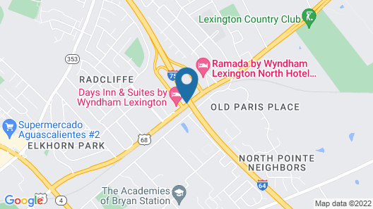 Days Inn & Suites by Wyndham Lexington Map