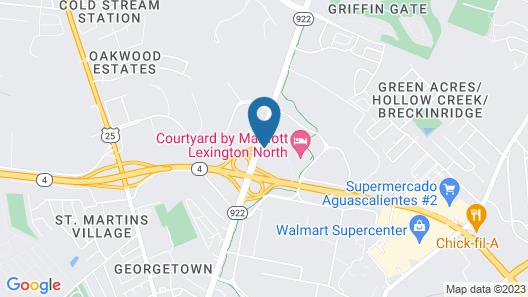 Motel 6 Lexington, KY - Airport Map