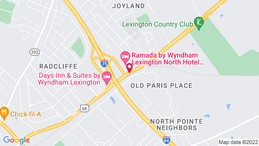 Ramada Hotel & Conference Center by Wyndham Lexington North Map